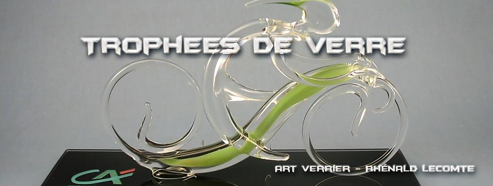Trophée course cycliste en verre - Trophée Brassard 2005 – Morbihan