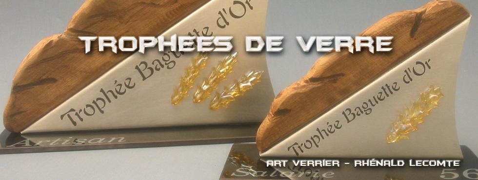 Trophée baguette d'or - Morbihan - Trophée prestige verre - métal - bois
