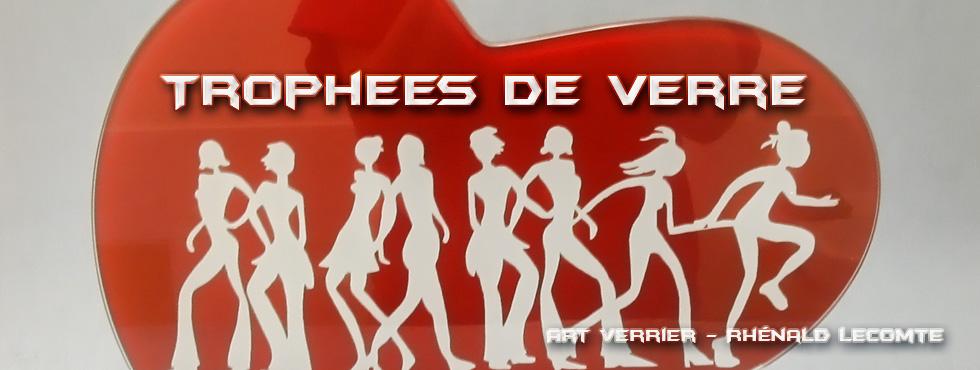 Trophée course féminine en verre - La Vannetaise 2012 – Prévention et sensibilisation des cancers féminins