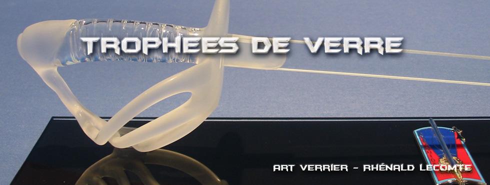 Trophée militaire - Sabre de verre St-Cyr-Coetquidan - Symbole d'adoubement et d'intégration dans le corps des Officiers