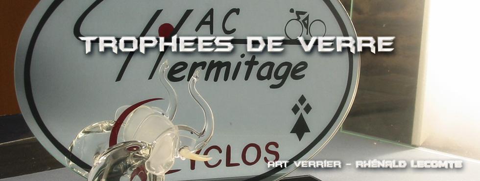 Trophée course cycliste en verre - Hermitage Athletic Club VTT 2006 - Ille-et-Vilaine