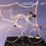 Trophée événementiel - Trophée cycliste en verre - Boucles de l'Oust et de Lanvaux 2017 (56) - Sculpture verre plein - Art Verrier
