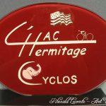 Trophée événementiel - Trophée cyclisme - Hermitage Athletic Club - HAC L'Hermitage 2008 (35) - Création verre couleur rouge - Art Verrier