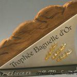 Trophée boulangerie - Trophée d' excellence Baguette d'or - Artisan - Création d'art artisanale bois - verre - métal - 2013 - Art Verrier - La Gacilly