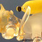 Trophée passion - Trophée sculpture en verre – Gros plan plongeur avec bouteille sculpté à la flamme - Création 2017 - Rhénald Lecomte - Art Verrier
