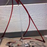 Trophée passion voile - Voilier stylisé en verre couleur rouge - Trophée d'art réalisé au chalumeau - Rhénald Lecomte - Art Verrier