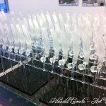 Trophée Sapeurs-pompiers Paris - Sculptures de verre 2016 sur socle verre noir - Mini-série artisanale pour commande - Art Verrier
