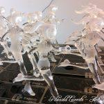 Trophée événementiel - Trophée running - C un espoir 2015 - Lutte contre le cancer des enfants – Foulées féminines sculptées en verre plein - Art Verrier