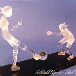 Trophée sport féminin – Football – Sculptures en verre plein - Art Verrier