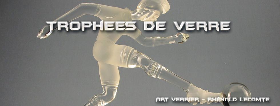 Trophée d'art cyclisme - Trophée sculpture personnalisé en verre