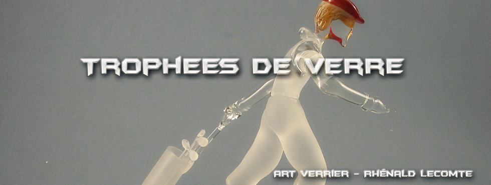 Trophée d'art golf - trophée sculpture personnalisé en verre