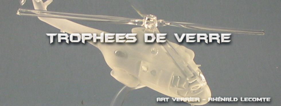 Trophées en verre - passion aéronautique