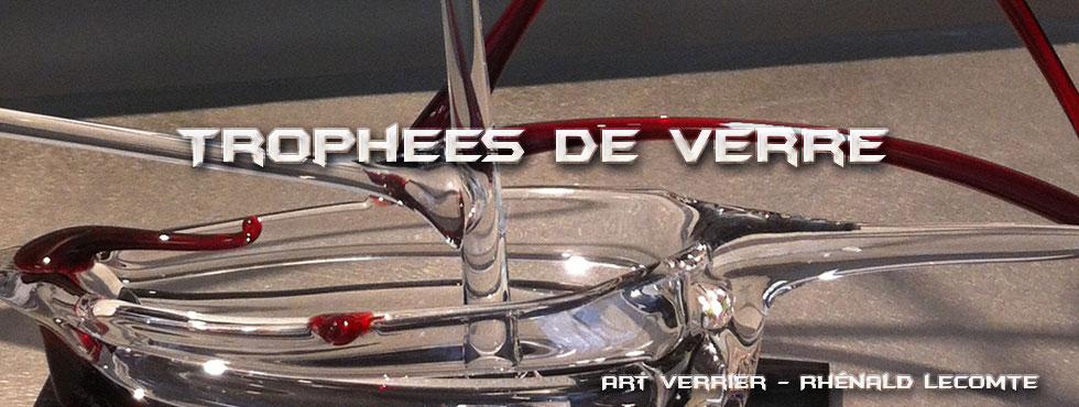 Trophées passion voile - Sculptures voiliers stylisés en verre