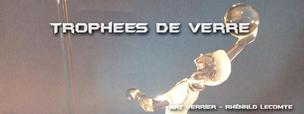 Trophée sculpture de balle en verre - Trophée d'art - Art Verrier