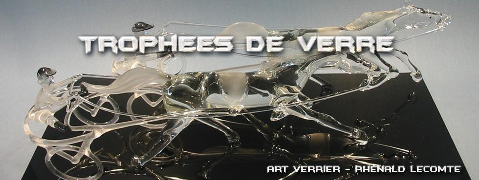 Trophée équestre en verre - Trophée sculpture réalisé au chalumeau