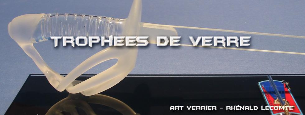 Trophée d'art - Trophée militaire sculpté en verre