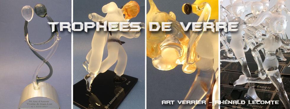 Trophées cadeaux en verre - Trophées sculptures avec supplément d'âme - Art Verrier - La Gacilly